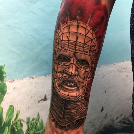 Tattoos - Pinhead Tattoo Horror Portrait  - 128245